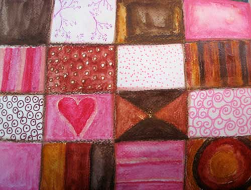 Weekly Art Challenge: Play with Pink and Brown! (Feb 12, 2009)