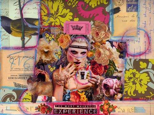 Weekly Art Challenge: Make a Collage out of a Magazine Ad! (Jan. 7, 2009)